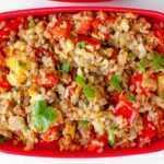 Быстрый вкусный обед с гречкой и овощами