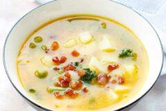 Рецепт овощного супа с домашним бульоном из кубиков