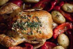 К застолью: экстра – запеченная курица, рецепт.