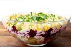 К застолью: салат экстра – селедка под шубой, рецепт.