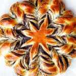 Дрожжевая звезда с маком, рецепт булочки.