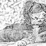 Тест для зрения: Кого ещё кроме собаки художник изобразил на картинке.