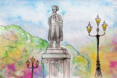 Русский поэт Александр Сергеевич Пушкин