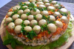 Салат лесная поляна, самый вкусный рецепт на каждый день